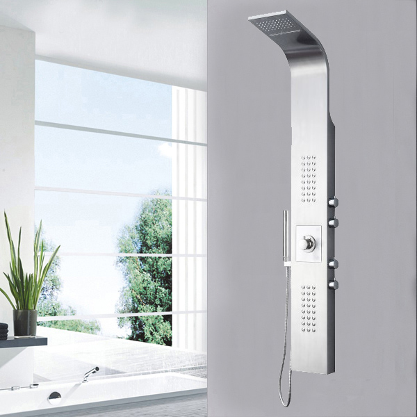 Stainless steel waterfall shower panel SP-S01 - 副本
