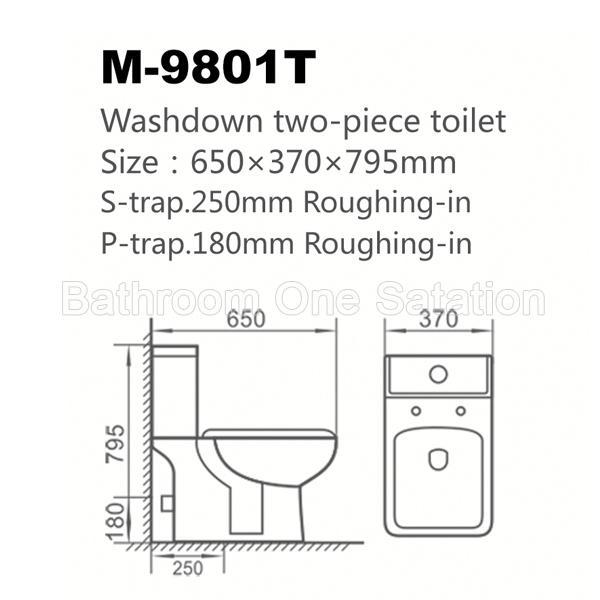 Low Price Good Quality Two Piece Wc Toilet 9801