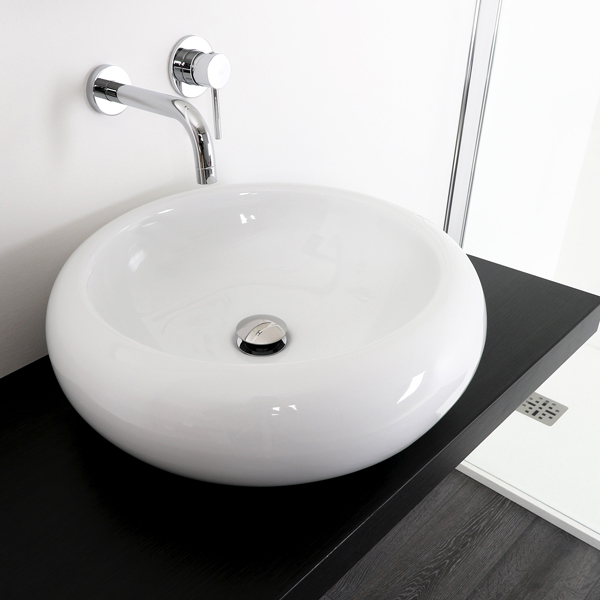 Round sharp ceramic wash basin WB-06