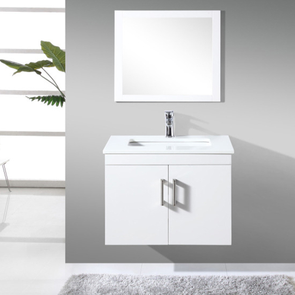 White color solid wood bathroom furniture BC-105