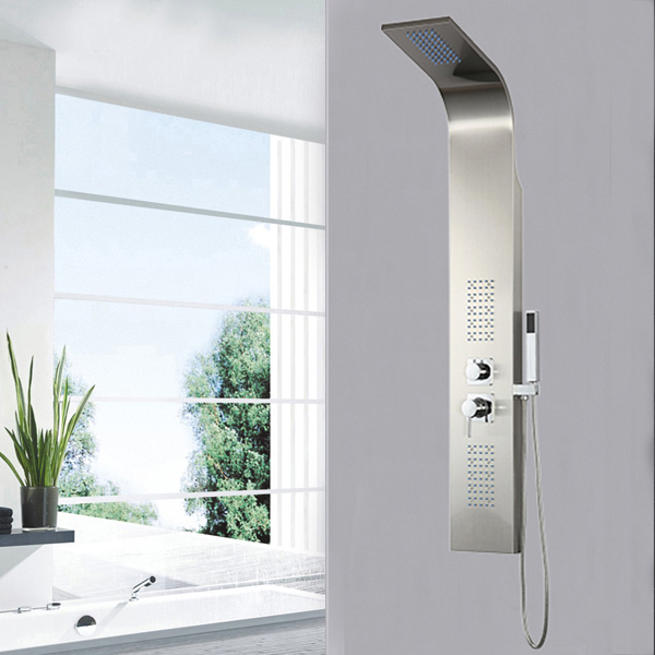 Stainless Steel LED light shower panel SP-S08