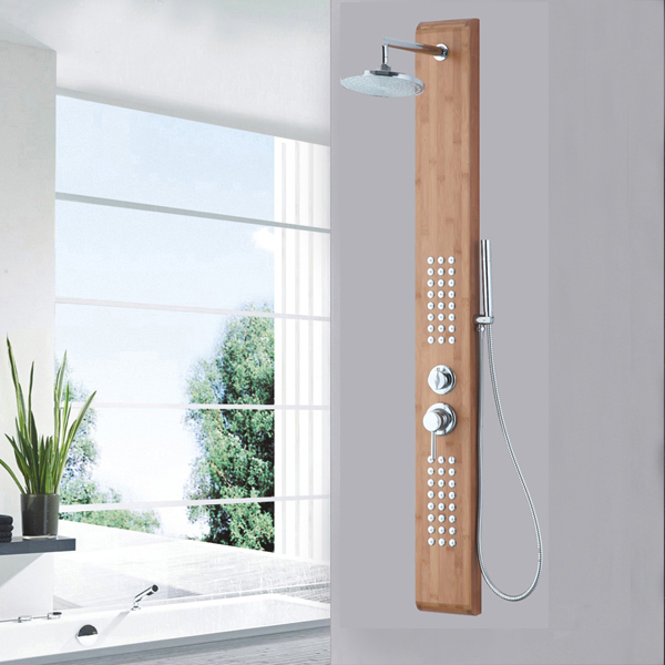 Nature bamboo wood shower panel SP-B02