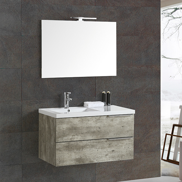 Cement color MDF bathroom cabinet MF-1810