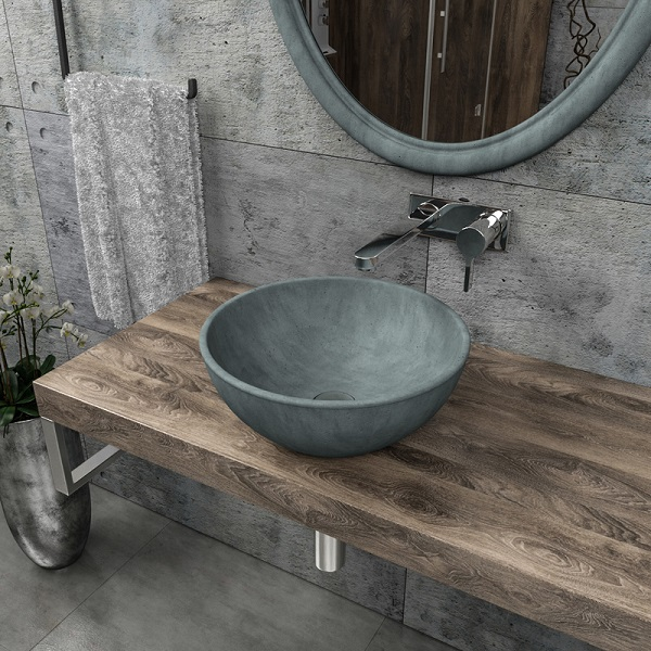 Round shape cement wash basin CB-03